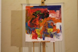une peinture de Rafiy Okefolahan