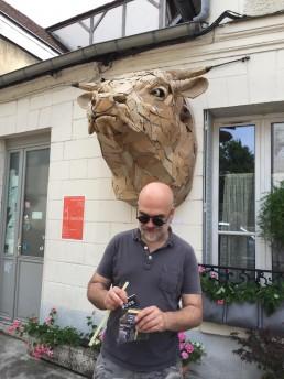 Philippe Monnot et sa tête de boeuf